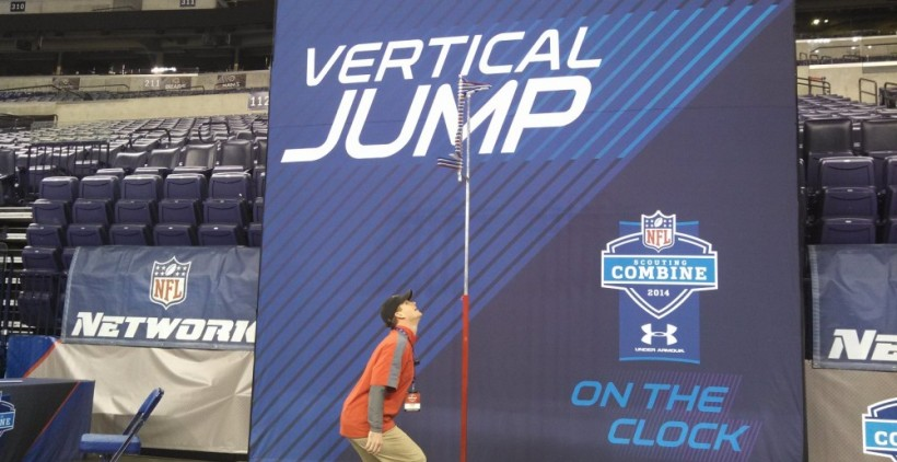 NGYFA Commissioner Colton Green prepares to embarrass himself at the NFL Combine